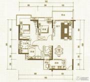 中惠国际金融中心3室2厅2卫126平方米户型图