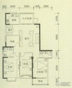 罗马景福城3室2厅2卫140平方米户型图