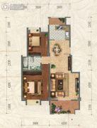 和信北郡2室2厅1卫90平方米户型图