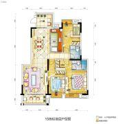碧桂园城市花园3室2厅2卫132平方米户型图