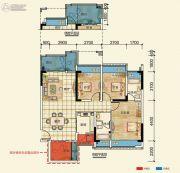 置信凯旋国际3室2厅2卫90--97平方米户型图