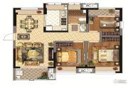 同润金色橘苑3室2厅1卫88平方米户型图