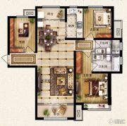 保利花园3室2厅2卫124平方米户型图