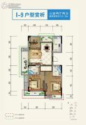 宝业・宜和雅园3室2厅2卫105平方米户型图