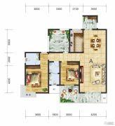 金钻国际3室2厅2卫132平方米户型图