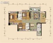汇源新都3室2厅2卫101平方米户型图