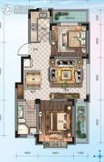 华海・蓝境2室2厅1卫68平方米户型图