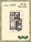 棕榈湾2室2厅1卫86平方米户型图