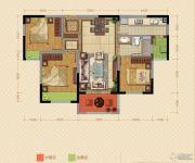 中海锦苑3室2厅1卫97平方米户型图