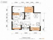 金科・世界城2室2厅1卫100平方米户型图