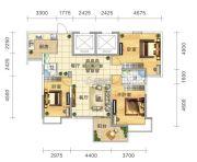 五岭国际3室2厅2卫136平方米户型图