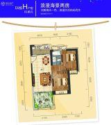 惠州富力湾2室1厅1卫84平方米户型图