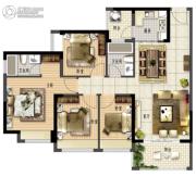 鑫月广场・欢乐海湾4室2厅2卫108平方米户型图