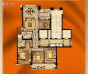 大诚名座3室2厅2卫124平方米户型图