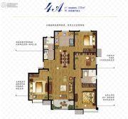 万科如园4室2厅2卫135平方米户型图
