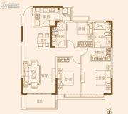 济南恒大龙奥御苑3室2厅1卫140平方米户型图