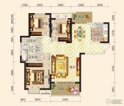 鸿坤国宾壹号3室2厅2卫121平方米户型图