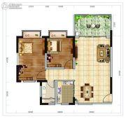 海南近海湾2室2厅2卫82平方米户型图