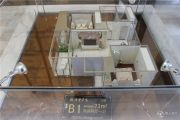 华泽天下 高层2室2厅1卫73平方米户型图