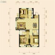 金地檀府3室2厅2卫113平方米户型图