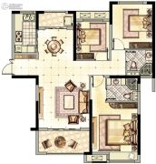 阳光城・青山湖大境3室2厅2卫99平方米户型图