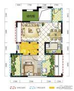 远达春天里3室2厅1卫66平方米户型图