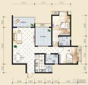 观音南部兴城2室2厅1卫96平方米户型图