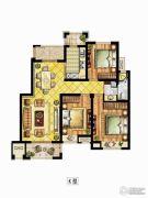 中锐星尚城3室2厅1卫0平方米户型图