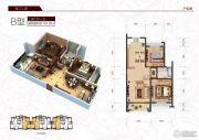 春江人家2室2厅1卫103平方米户型图