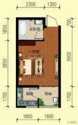 翌琦新印象1室0厅1卫31平方米户型图