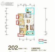 岳塘映象3室2厅2卫117平方米户型图