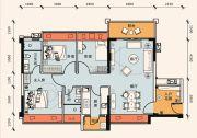 正邦华颢豪庭3室2厅2卫83平方米户型图