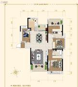 湘潭・奥园冠军城4室2厅2卫135平方米户型图