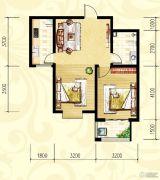 众和凤凰城2室1厅1卫72平方米户型图