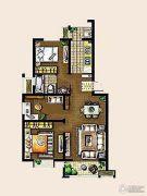 金东城世家3室2厅1卫98平方米户型图