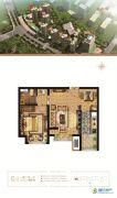 万和城1室2厅1卫60平方米户型图