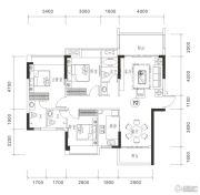 御品豪庭3室2厅3卫116平方米户型图