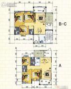 宏福家园3室2厅2卫108--129平方米户型图