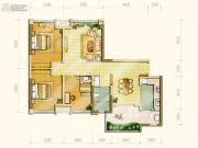 中海右岸3室2厅1卫87平方米户型图