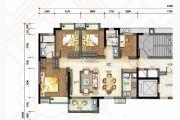 万科城4室2厅2卫119平方米户型图