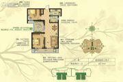 淳茂公园城2室2厅1卫86平方米户型图