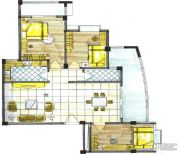 华英・翠湖居3室2厅2卫100--140平方米户型图