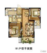 景瑞御江山2室2厅1卫85平方米户型图