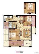 永成天御湾2室2厅1卫79平方米户型图