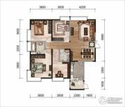 昆明广场3室2厅2卫0平方米户型图