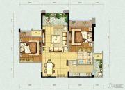北大资源燕南2室2厅1卫62平方米户型图