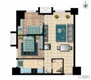 国瑞瑞城2室2厅1卫73平方米户型图