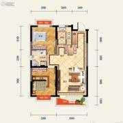 中铁香湖2室2厅1卫0平方米户型图