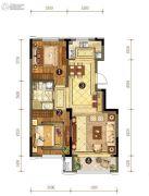 中信云邸2室2厅1卫94平方米户型图
