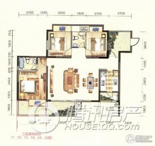金龙星岛国际2号楼a1户型